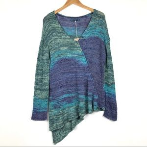 New PrAna Boho Asymmetrical Knit Tunic Sweater L